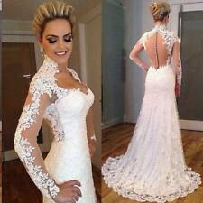 New White Ivory Lace Ball Gown Wedding Dress Bridal Gowns Size 6+8+10+12+14+16 R