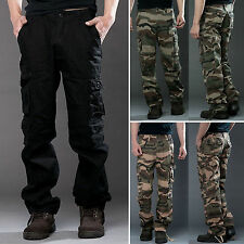 Men's Casual Military Army Cargo Camo Combat Work Long Pants Camouflage Trousers