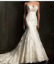 New White Ivory Lace Ball Gown Wedding Dress Bridal Gowns Size 6+8+10+12+14+16 y