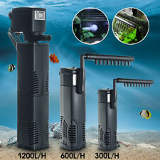300-1200 L/H Aquarium Internal Submersible Water Fish Tank Pump Power Filter CA