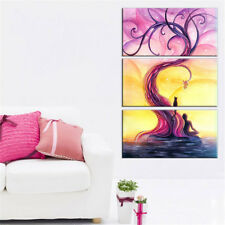 Purple Tree Flower Scenery Painting Poster Modern Canvas Wall Art Home Decor