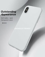 Matte Ultra Slim Soft TPU Back Case Protective Cover For iPhone X/8/7/6 S003