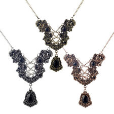 Vintage Gear Flower Resin Beads Pendant Machinery Necklace Cosplay Jewelry