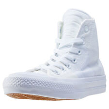 Converse Chuck Taylor All Star Ii Hi Womens White Canvas Casual Trainers Lace-up