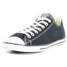 Converse Chuck Taylor All Star Lean Ox Mens Black Canvas Casual Trainers Lace-up