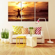 Sunset Beach Seascape Painting Poster Modern Picture Canvas Wall Art Home Decor