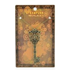 Novelty Steampunk Gothic Necklace Chain Key Gear Pendant Vintage Bronze