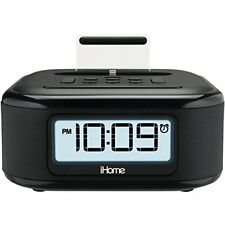 iPhone Dock Charge Station FM Clock Radio with Lightning Dock Charge/Play