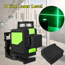 Laser Level 8 Line Green Self Leveling Outdoor 360° Rotary Cross Measure Tool SR