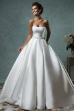 New White Ivory Lace Ball Gown Wedding Dress Bridal Gowns Size 6 8 10 12 14 16 i