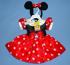 Disney Minnie Mouse costume dress-red;Junior Baby;3-6;6-9;Hairband-with bow-ears