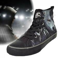 Wolf Chi High-Top Trainers - Canvas, 7 Holes - Sneakers Basketball Skater Gothic