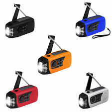 2000mAh Solar Crank Emergency Radio LED Flashlight TF MP3 Player Phone Charger