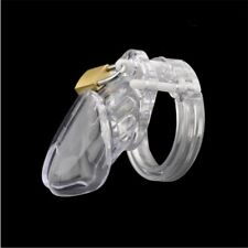 Transparent Male Polycarbonate Locking Chastity Lock Short Long Fancy Game Toy