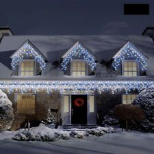 720 LED White & Blue Super Bright Christmas Snowing Icicle Lights Indoor Outdoor