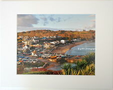 """View over Saundersfoot""  Limited Edition Mounted  Photographic Print 14x11 8x6"