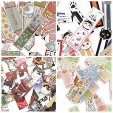 30 Pcs/box Cartoon Animal Cute Cat Rabbit Styles Paper Bookmarks Message Card