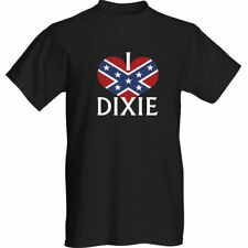 I Love Dixie - black Confederate Rebel t-shirt size S thru XXL
