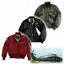 Alpha Industries Engine - New Original Bomber Jacket  Biker Style Nylon L-pocket