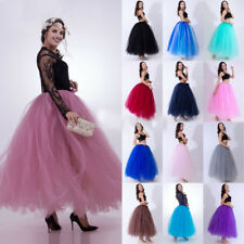 Long Ball Gown Bridal Petticoat Wedding Underskirt Tulle Tutu Crinoline Skirt