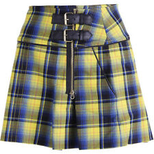 NWT JUICY COUTURE Black Label Starlet A-Line Yellow Plaid Mini Skirt 6 12 178