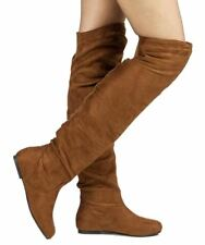 RF Room Of Fashion TrendHI-02 Vegan Slouchy Pullon Over-the-Knee Boots CAMEL SU