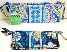 Vera Bradley Small Bow Cosmetic Case Mod Floral Blue or Capri Blue NWT