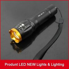 Zoomable CREE XM-L T6 LED Flashlight 5 Modes Portable 18650 Battery  Torch Focus