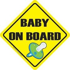CHOOSE SIZE - BABY ON BOARD VINYL DECAL cute expecting mother mom dad