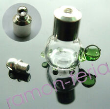 10 Glass Wishing Bottle Perfume Vial Necklace Pendant Shape Charm Name on Rice