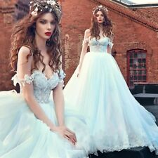 2017 Lace Off-Shoulder Wedding Dresses Sweetheart Bridal Princess Ball Gowns NEW