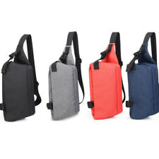 Small Canvas Chest Backpack Outdoor Travel Sling Crossbody Shoulder Bag Day Pack