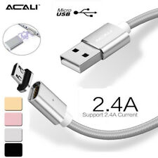 2.4A Magnetic Adapter Charger Micro USB Charging Cable LED For Samsung S5 S6 S7