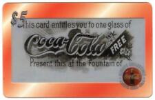 Coca-Cola '96 $5. Etched Acetate: Free Coke Sampling Coupon #4 of 5 Phone Card