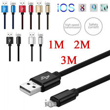 1/ 2/ 3M Fast Charger Strong USB Data Cable For IOS iPhone 5 6 6S Edge 7 8 Plus