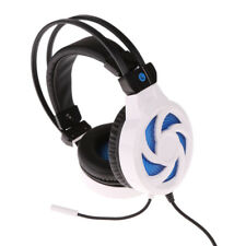 LED Light with Mic Wired Headphones Adjustable Stereo PC Gaming Headset