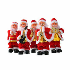 Christmas Xmas Santa Clause Decorations Electric Singing Dancing Dlowing Dolls