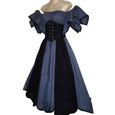 Women Steampunk Gothid Victorian Costume Medieval Renaissance Long Fancy Dress