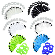 BIG GAUGES KIT 24 Pieces Tapers and Silicone Plugs Tunnels 00G-20mm Stretching
