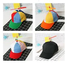 Multi-Color Fancy Adjustable Propeller Beanie Cap Hat Clown Costume Xmas Acces
