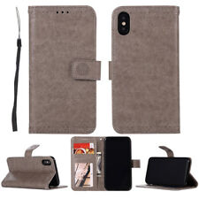 Luxury PU Leather Wallet Card Pouch Stand Flip Cover Case For Apple iPhone X