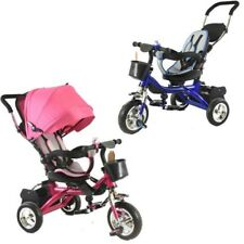 Ride On Kids Bike Tricycle 4 in 1 Wheels 3 Trike Children Stroller Toy Bicycles
