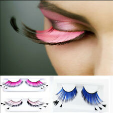 Women Fancy Soft Long Feather False Eyelashes Eye Lashes Makeup Party Club NEW