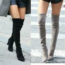 Women's Over The Knee Boots Sexy Lace Up High Heels Slim Thigh Winter Shoes