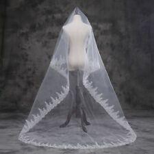 New Elegant Wedding Veils White/Ivory Long Lace 300m Wedding Veil Without Comb