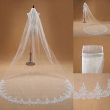 Elegant Wedding Veils 1 T White/Ivory  Lace Edge Brial Veils With Comb