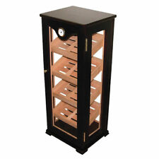 Quality Importers Upright Wooden Display Cabinet Humidor (75-100 Cigars)