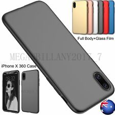 Full Body Protective 360 Shockproof Case Hard Ultra thin Cover For iPhone 10 X 8