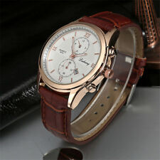 Fashion Mens Casual Wristwatch Business Luxury Leather Strap Quartz Male Watches