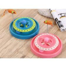 2-in-1 Round Pet Cat Kitty Activity Dish Funny Cat Interactive Training Toy